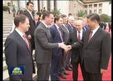 习近平举行仪式欢迎俄罗斯总统访华并同其举行会谈